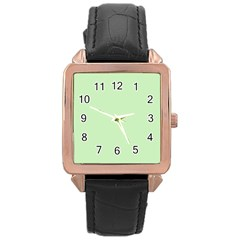 Baby Green Rose Gold Leather Watch