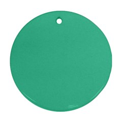 Seafoamy Green Round Ornament (two Sides)