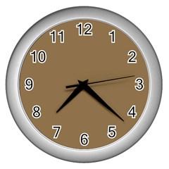 Brownish Wall Clocks (silver)