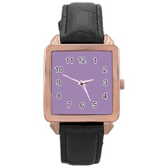 Grape Light Rose Gold Leather Watch