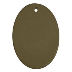 Rainy Brown Ornament (oval)