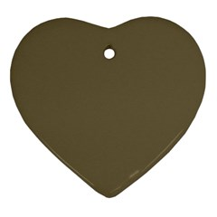 Rainy Brown Ornament (heart)