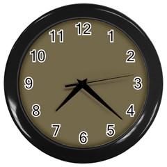 Rainy Brown Wall Clocks (black)
