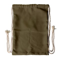 Rainy Brown Drawstring Bag (large)