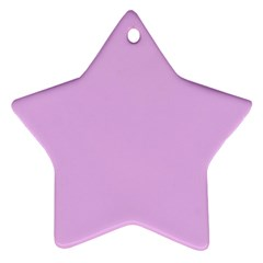 Baby Purple Star Ornament (two Sides)