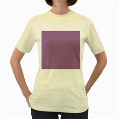 Uva Purple Women s Yellow T Shirt