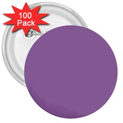 Uva Purple 3  Buttons (100 Pack)