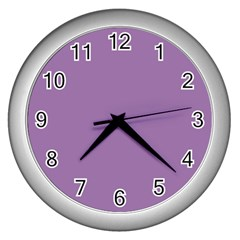 Uva Purple Wall Clocks (silver)