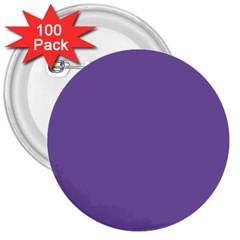 Purple Star 3  Buttons (100 Pack)