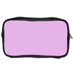 Pink Flowers Toiletries Bags 2 Side