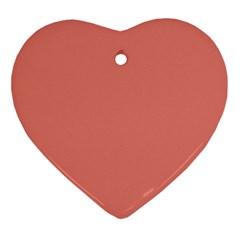 Late Peach Ornament (heart)