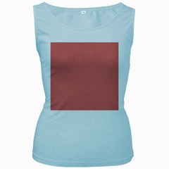Late Peach Women s Baby Blue Tank Top