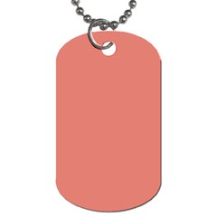 Late Peach Dog Tag (one Side)