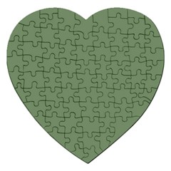 Army Green Jigsaw Puzzle (heart)