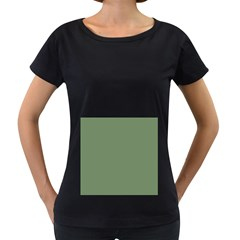 Army Green Women s Loose Fit T Shirt (black)