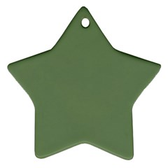 Army Green Star Ornament (two Sides)