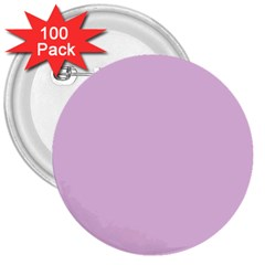 Lilac Star 3  Buttons (100 Pack)