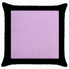 Lilac Star Throw Pillow Case (black)