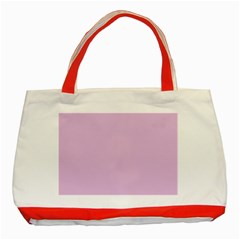 Lilac Star Classic Tote Bag (red)