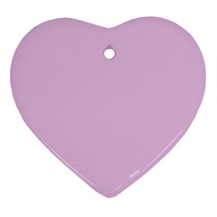 Lilac Star Heart Ornament (two Sides)