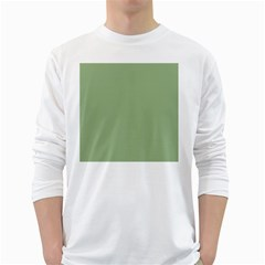Tree Green White Long Sleeve T Shirts