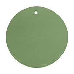 Tree Green Round Ornament (two Sides)