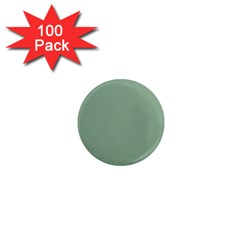 Mossy Green 1  Mini Magnets (100 Pack)