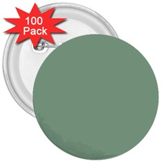 Mossy Green 3  Buttons (100 Pack)