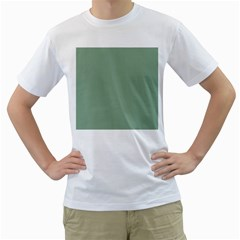 Mossy Green Men s T Shirt (white) (two Sided)
