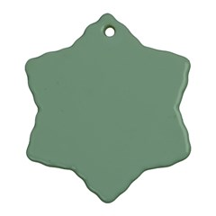 Mossy Green Ornament (snowflake)