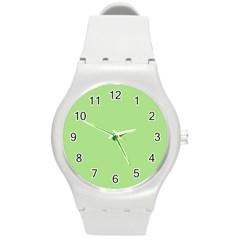 Pistachio Taste Round Plastic Sport Watch (m)