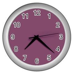 Medium Grape Wall Clocks (silver)