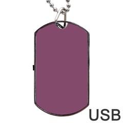 Medium Grape Dog Tag Usb Flash (one Side)