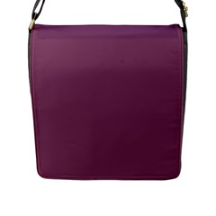 Medium Grape Flap Messenger Bag (l)