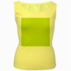 Grassy Green Women s Yellow Tank Top