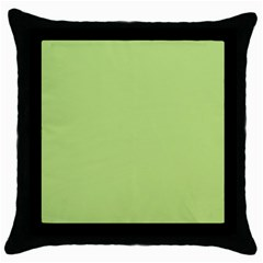 Grassy Green Throw Pillow Case (black)