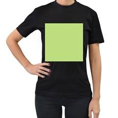 Grassy Green Women s T Shirt (black) (two Sided)