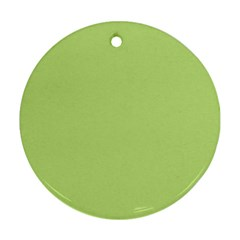 Grassy Green Round Ornament (two Sides)