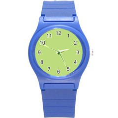 Grassy Green Round Plastic Sport Watch (s)