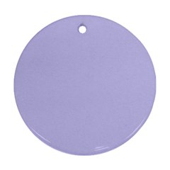 Violet Sweater Round Ornament (two Sides)