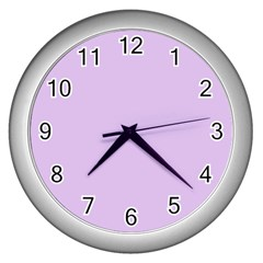 Lilac Morning Wall Clocks (silver)