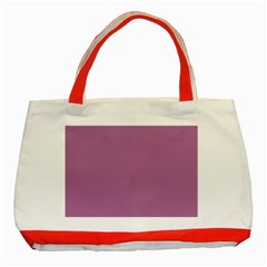 Silly Purple Classic Tote Bag (red)
