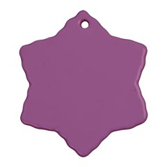 Silly Purple Ornament (snowflake)