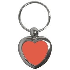 Dark Papaya Key Chains (heart)