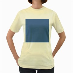 Greyish Ocean Women s Yellow T Shirt