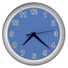 Greyish Ocean Wall Clocks (silver)