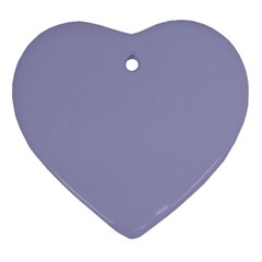 Grey Violet Ornament (heart)