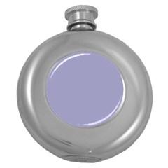 Grey Violet Round Hip Flask (5 Oz)