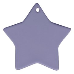Grey Violet Star Ornament (two Sides)