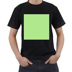Meadow Green Men s T Shirt (black) (two Sided)